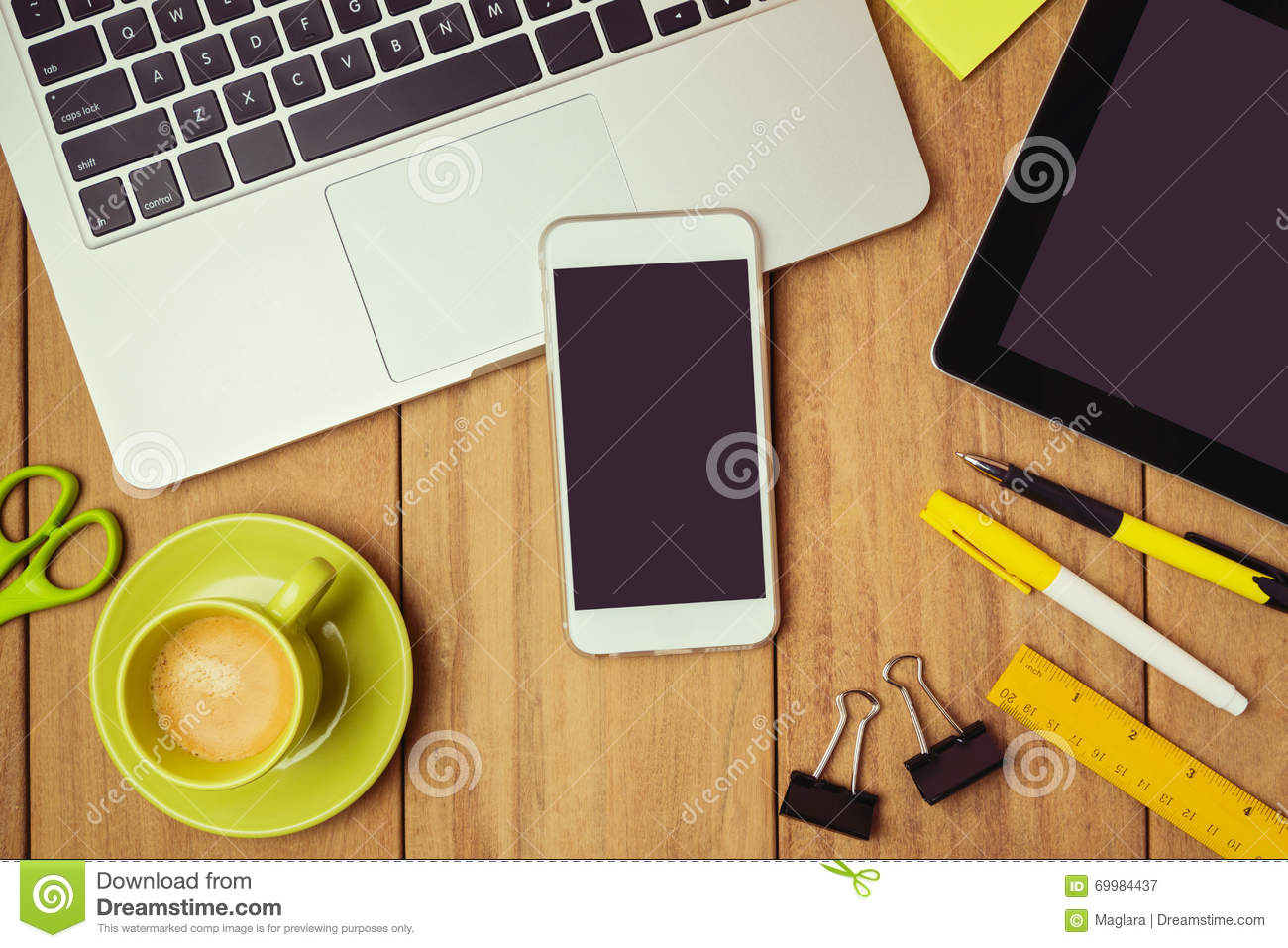 business background smartphone and laptop on office table business background smartphone and laptop on office table smartphone mock up template