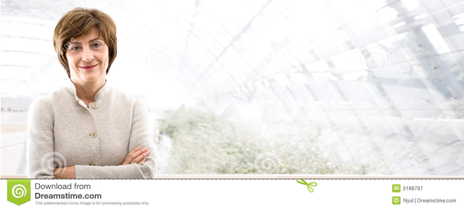 Business banner - senior businesswoman