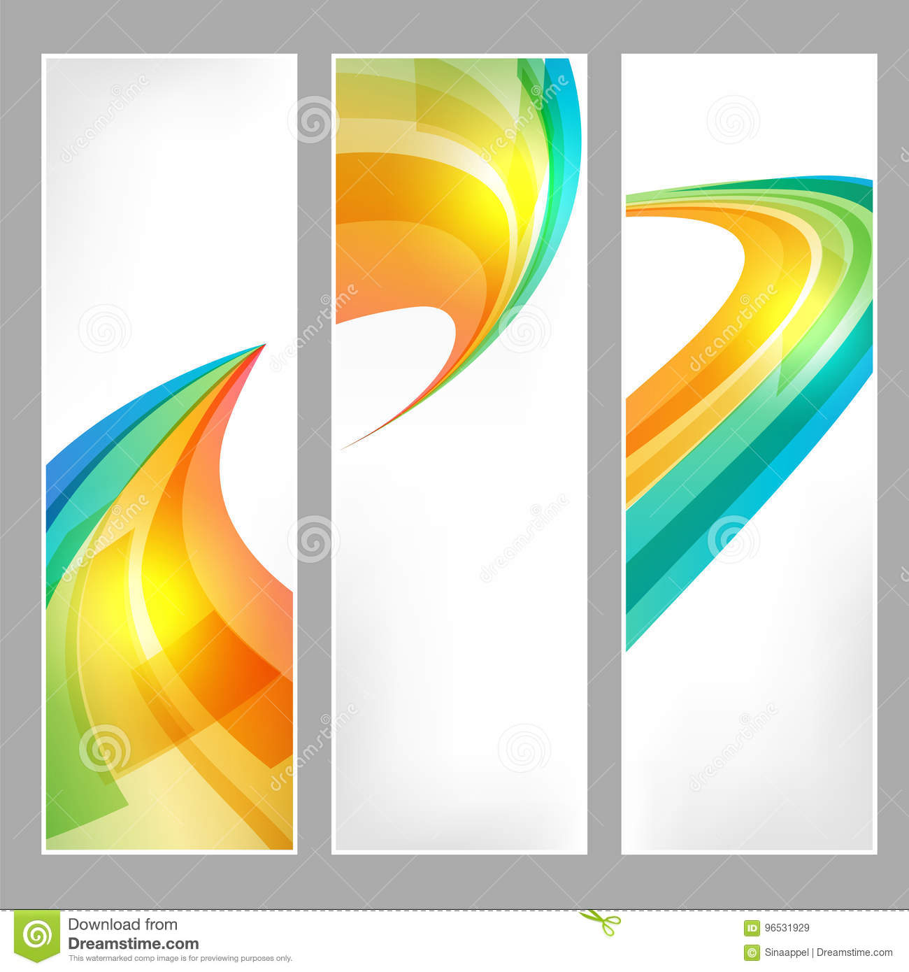 Business Banners Set With Tech Signs Stock Vector