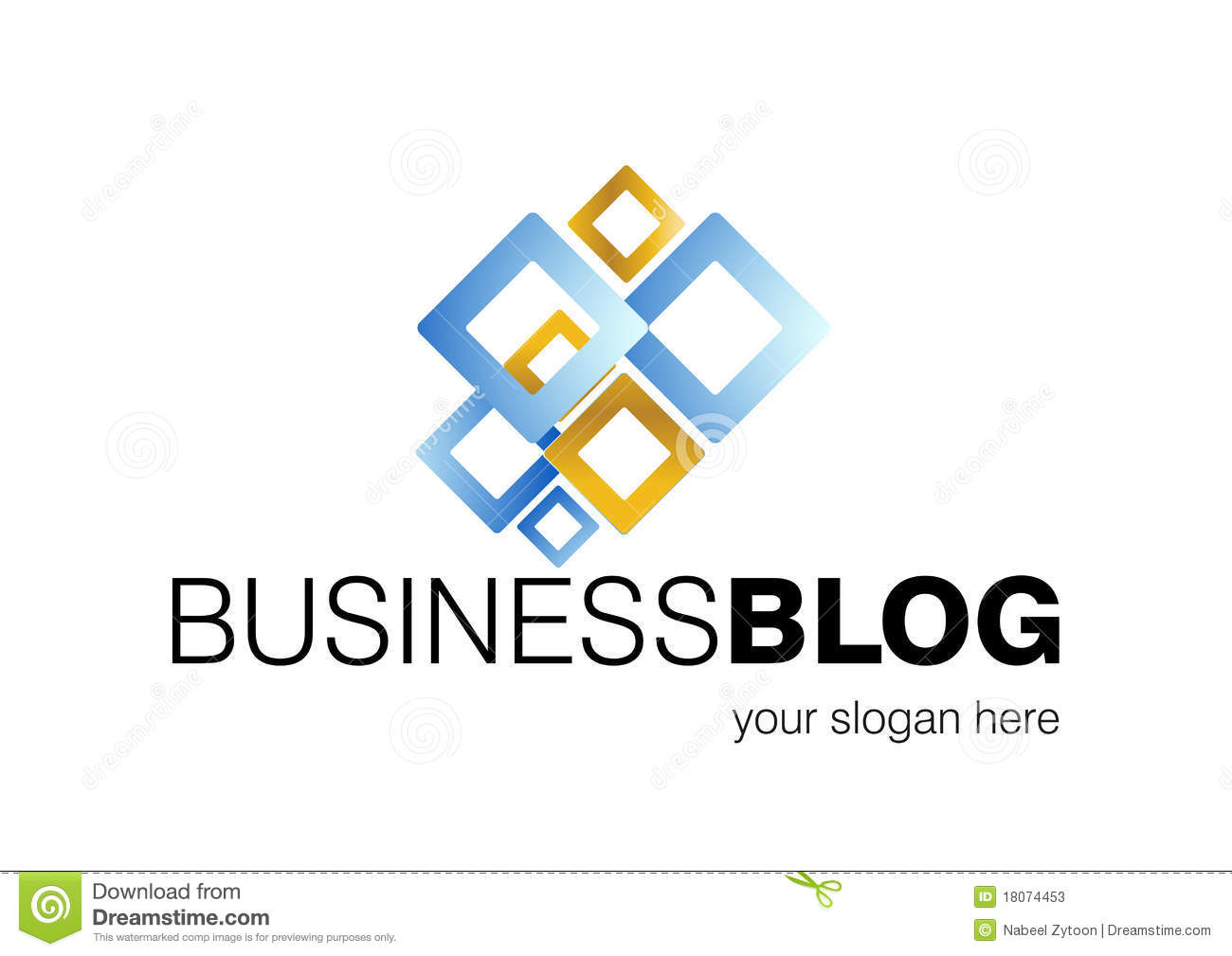 Business blog logo design stock vector illustration of Business logo design company