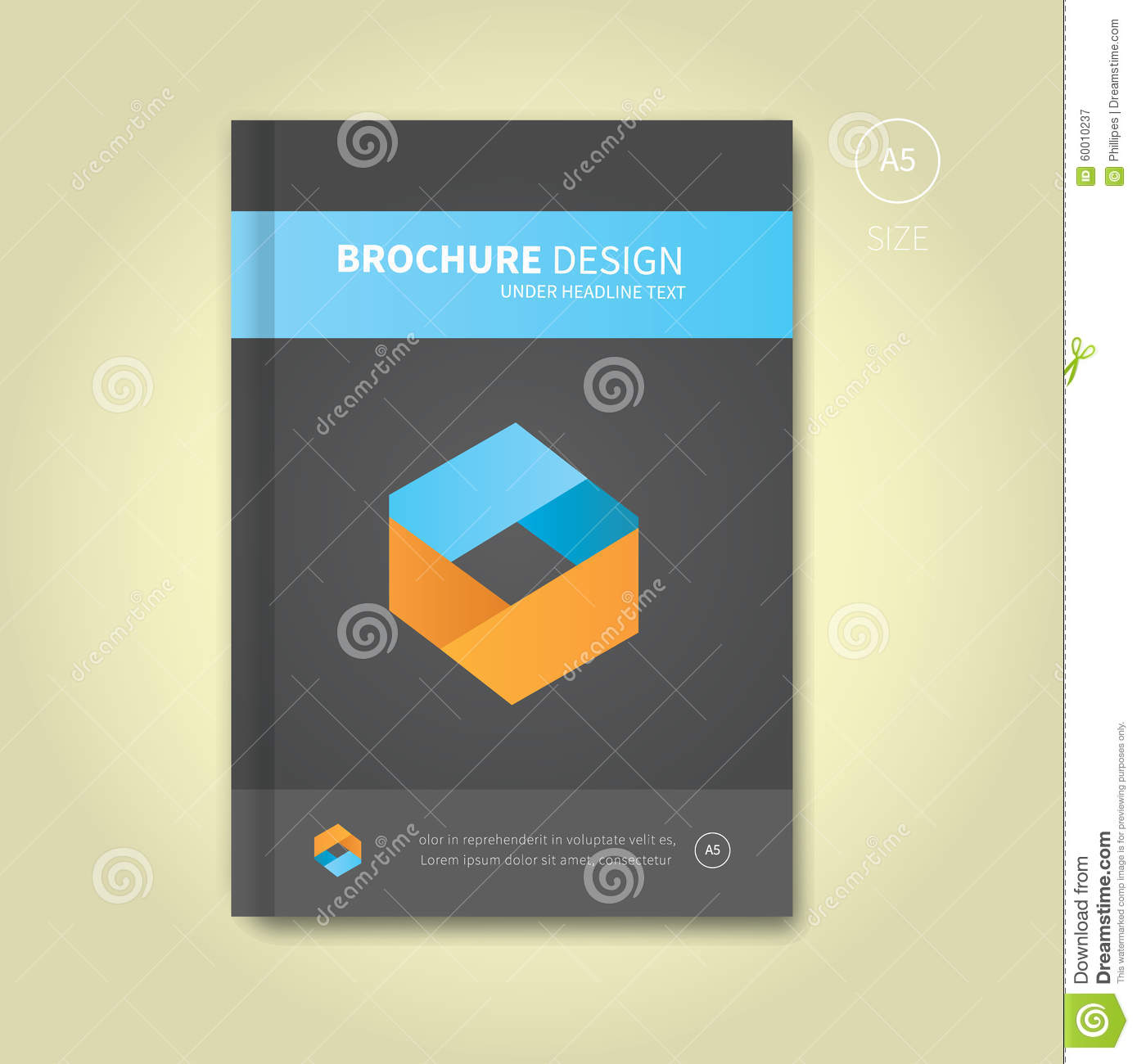 Modern Book Cover Maker : Cover book digital design tablet concept template vector