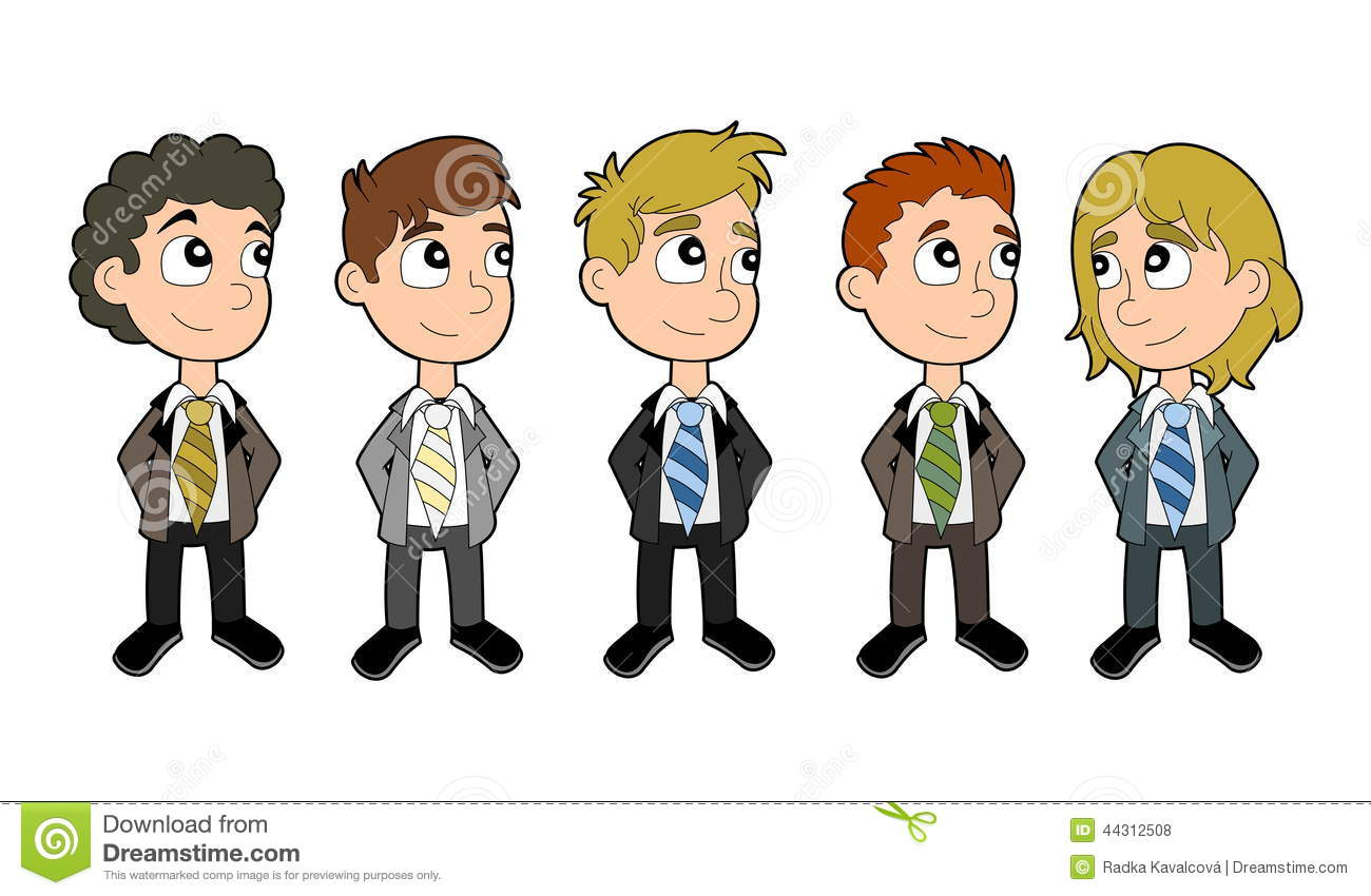 Business Boys Cartoon Set Stock Illustration Image 44312508
