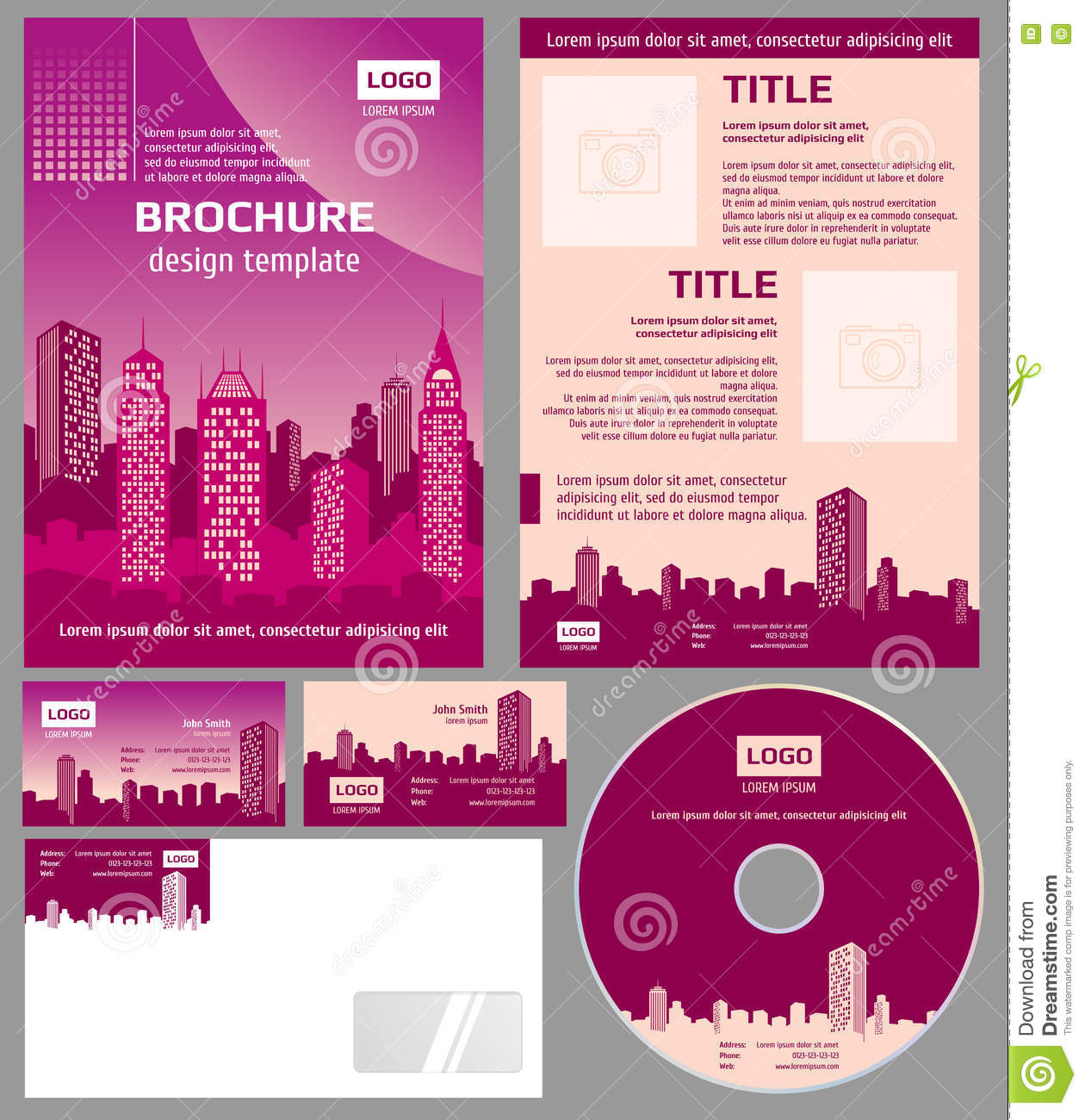Architecture Design Template business brochure architecture design vector template stock vector