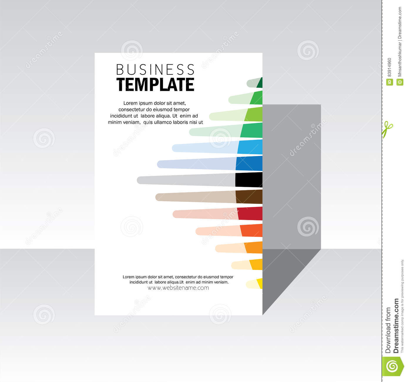Business brochure design cover - vector template