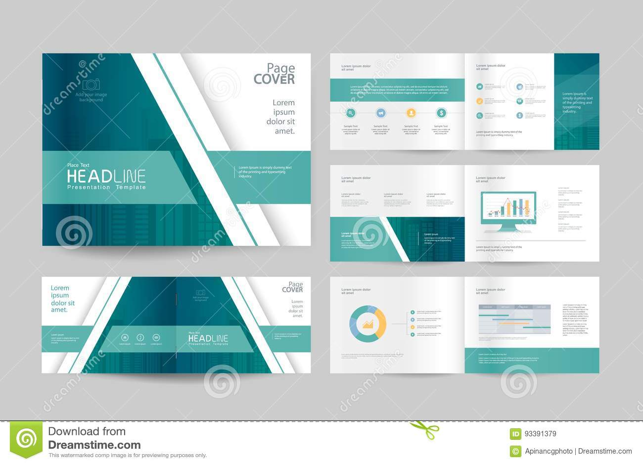 Free business profile template company profile free powerpoint free business profile template business brochure design template and page layout for company 20 accmission Images