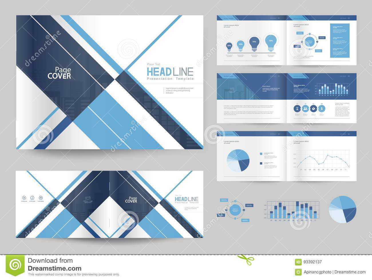 Business brochure design template and page layout for company business brochure design template and page layout for company profile maxwellsz
