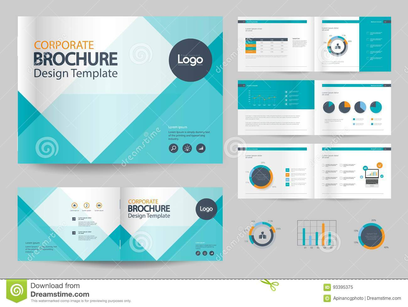 Business Brochure Design Template And Page Layout For Company - Brochure design template