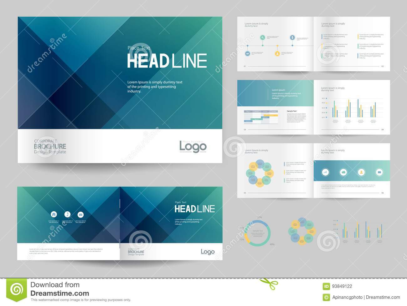 Business brochure design template and page layout for company business brochure design template and page layout for company profile annual report pronofoot35fo Images