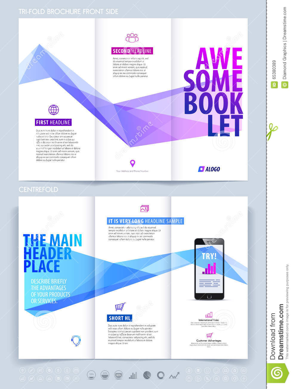 Business Brochure Flyer And Booklet Design Layout