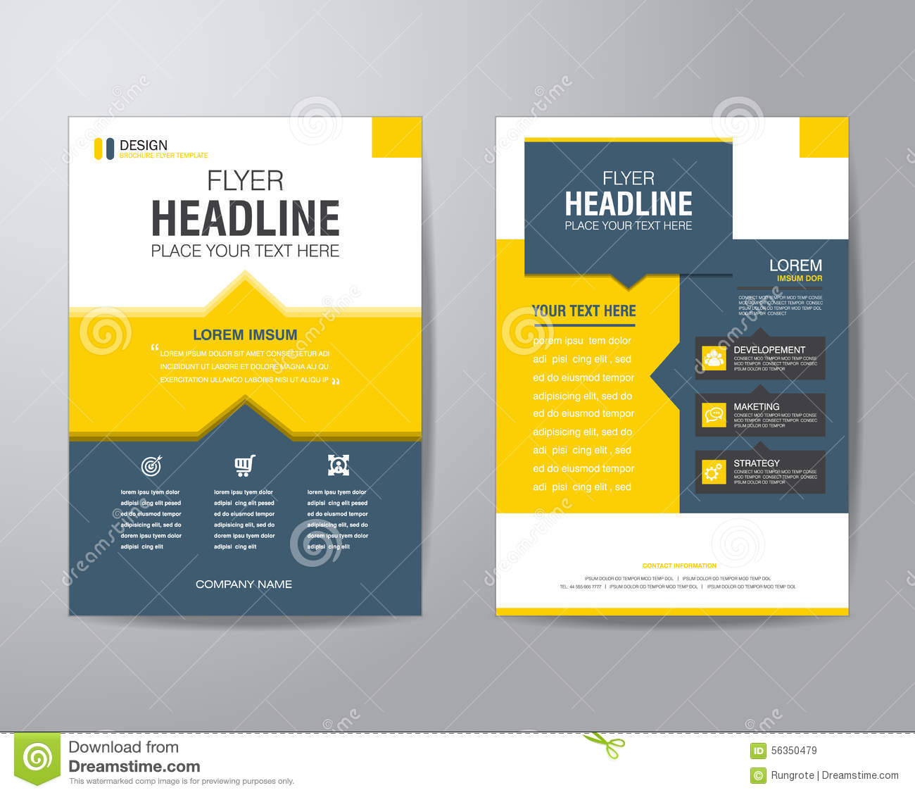business brochure template free - business brochure flyer design layout template in a4 size