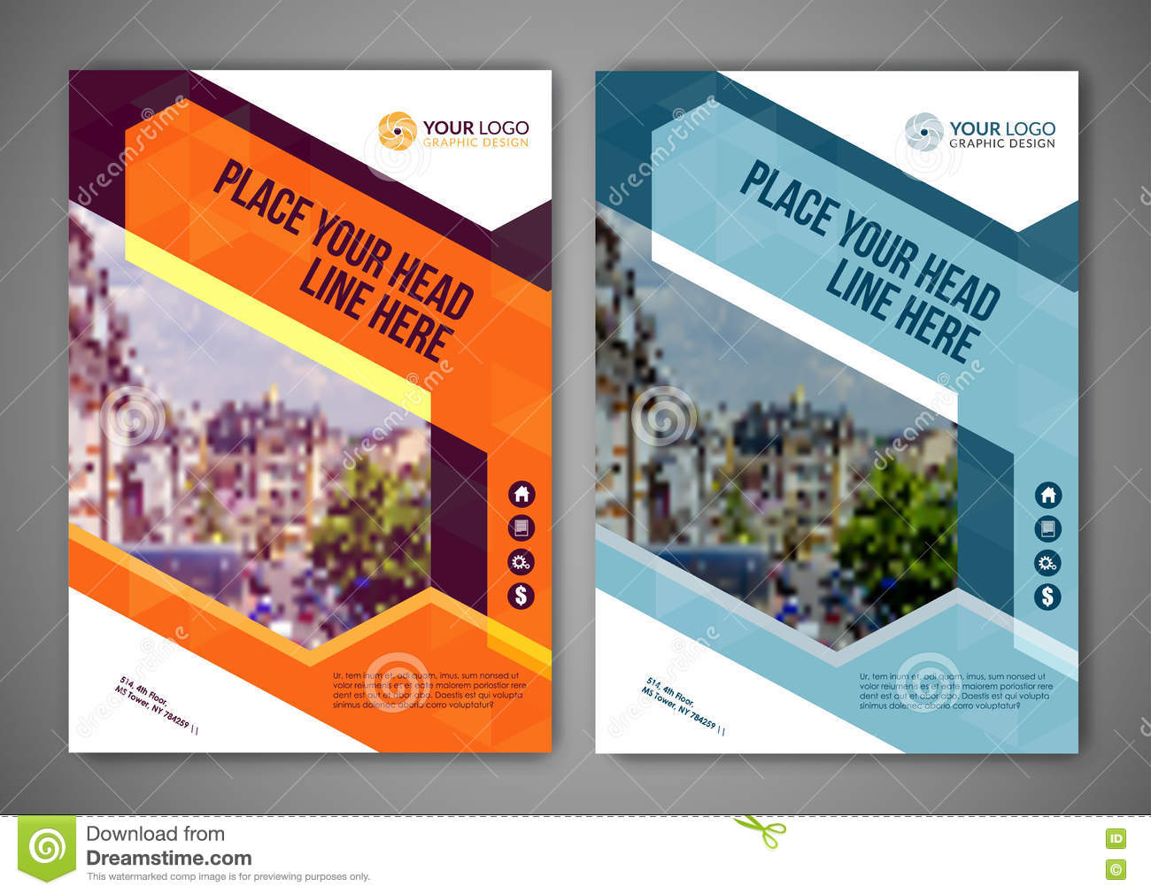 A5 flyer template psd file | free download.