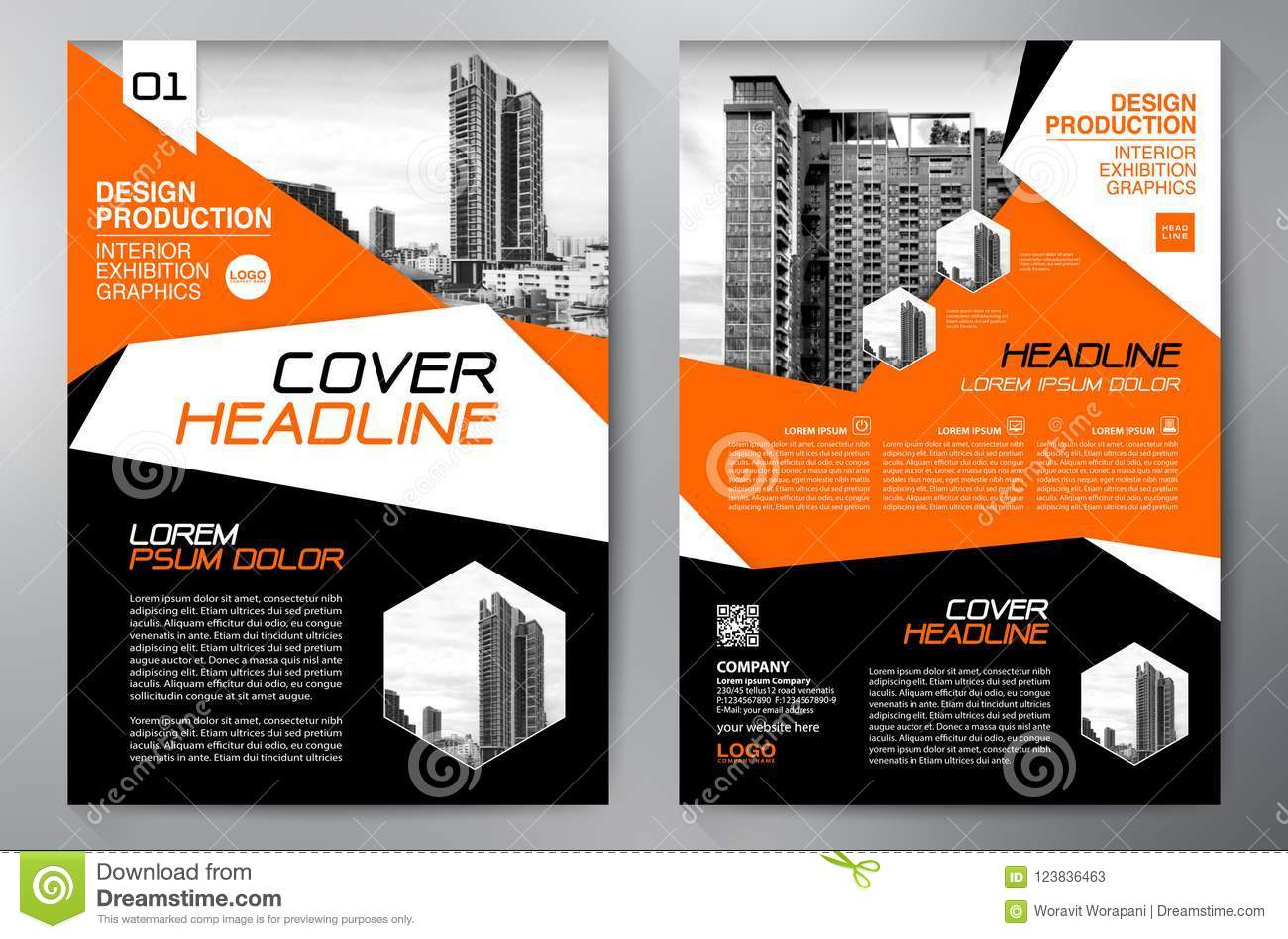 Business Brochure  Flyer Design  Leaflets A4 Template  Cover Boo