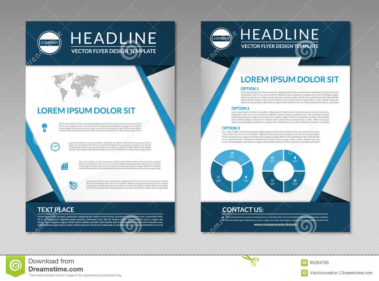 business brochure flyer design template a4 size stock vector