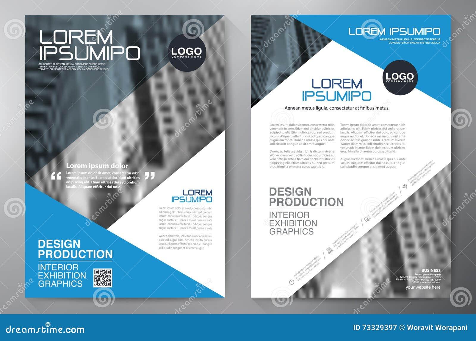 business brochure flyer design a4 template stock vector