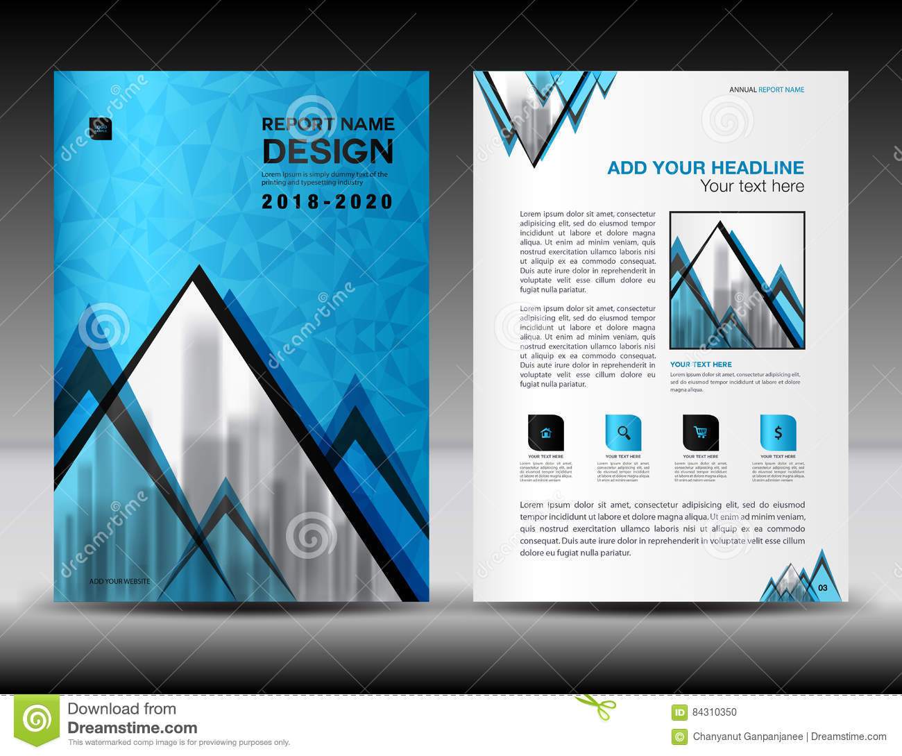 business brochure flyer template in a size blue cover design business brochure flyer template in a4 size blue cover design