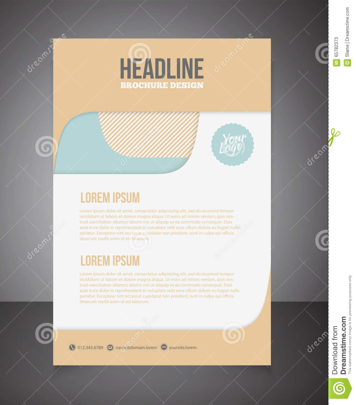 brochure design templates cdr format free download
