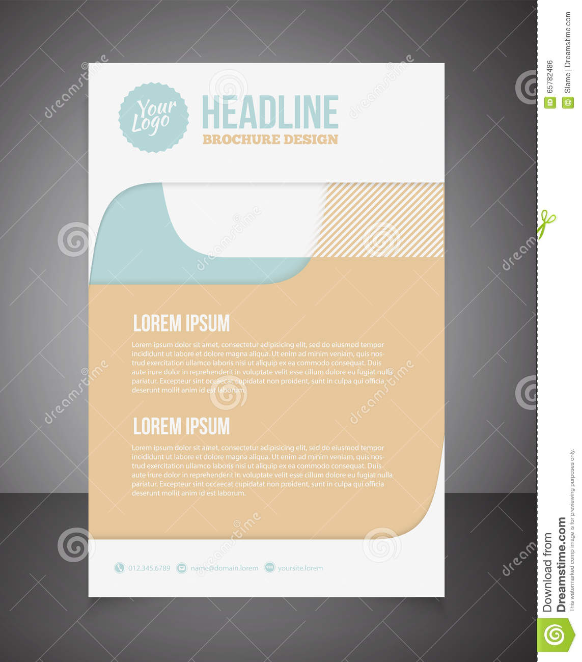 Business Brochure Or Offer Flyer Design Template Brochure Desig