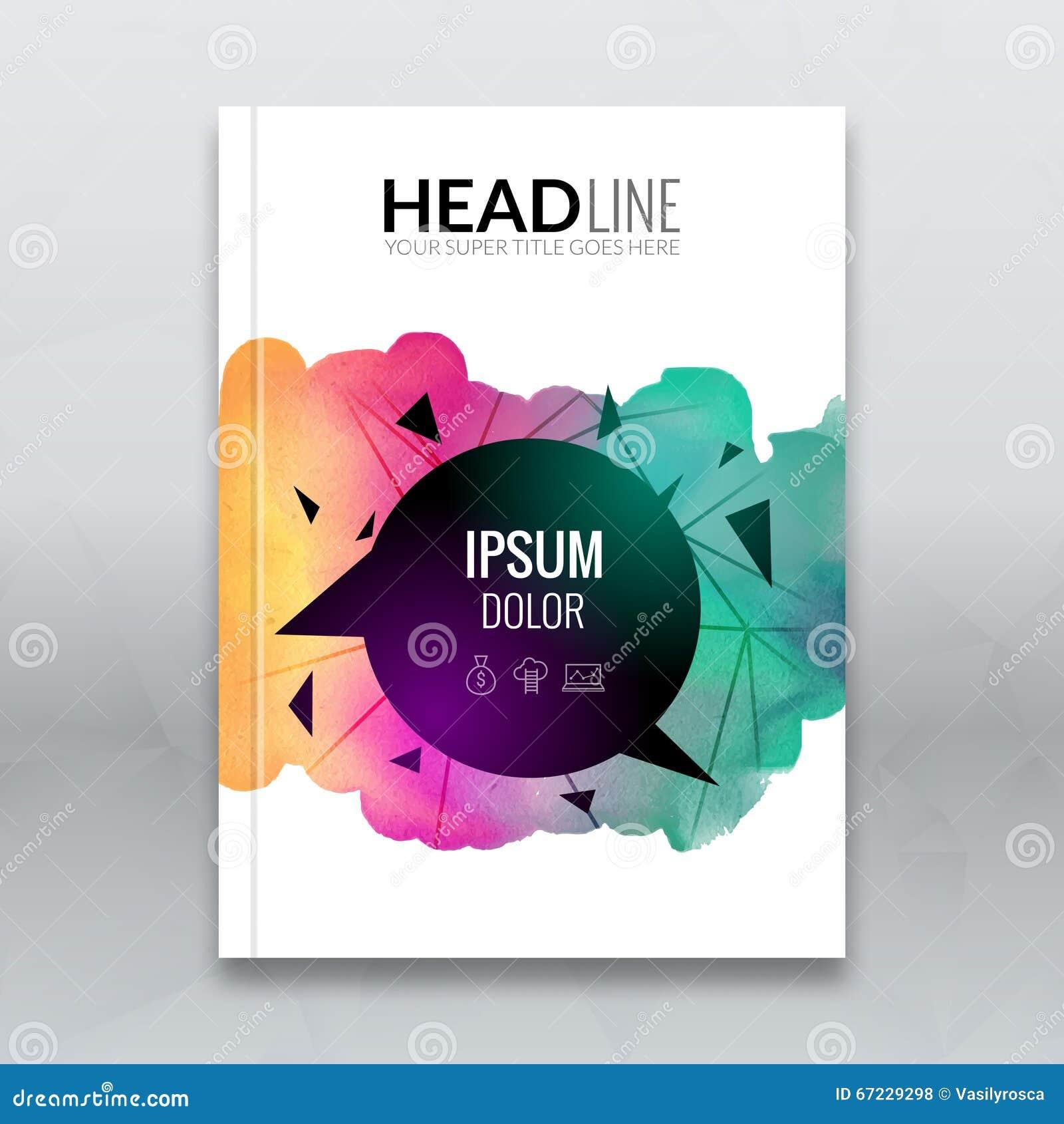 Book Cover Template Paint ~ Business brochure report design template vector flyer