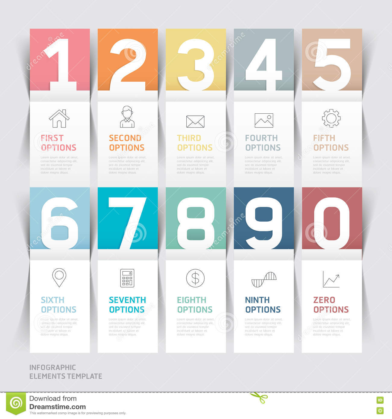 Business brochures template paper folding style stock vector business brochures template paper folding style cheaphphosting Image collections