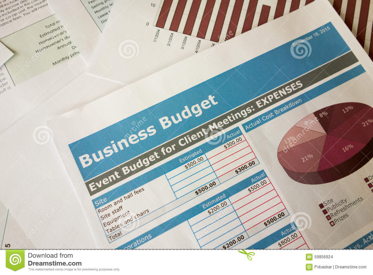 business budget planning stock photo image of graph 59856924