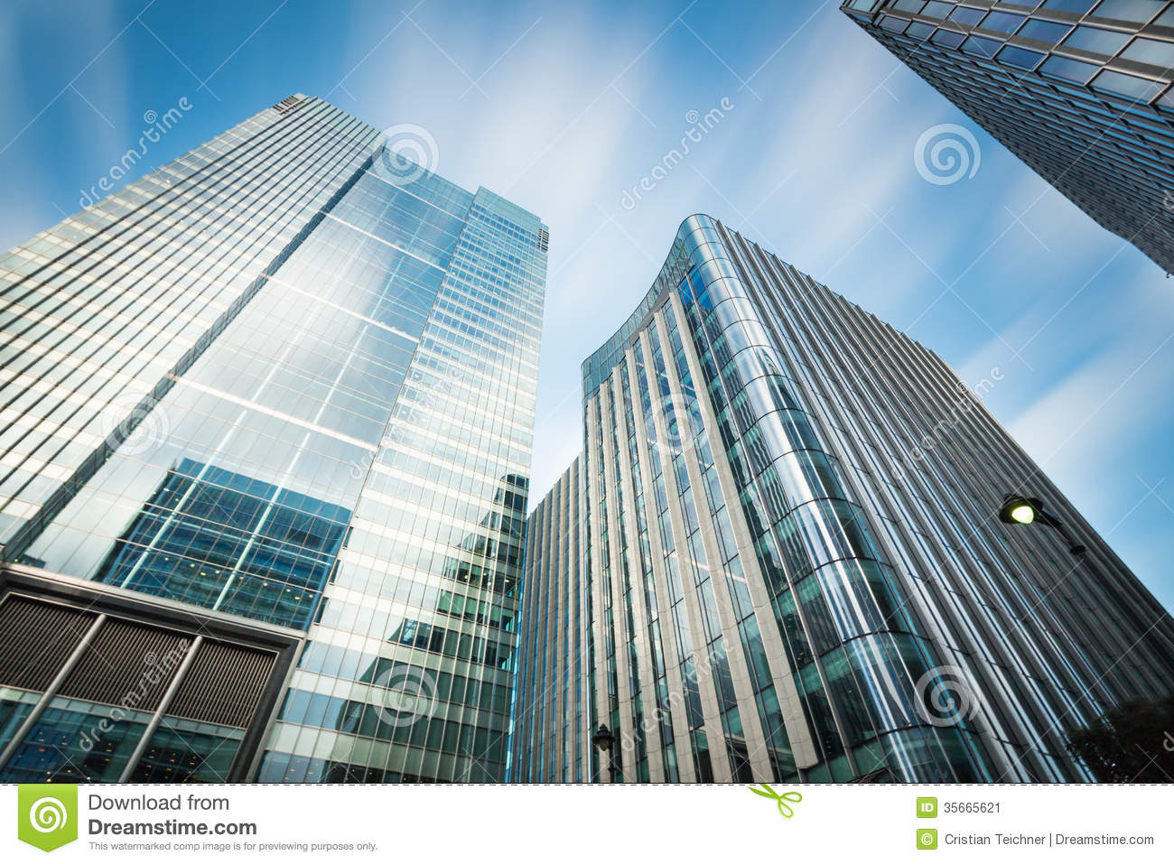 Business Building In Canary Wharf Stock Image Image