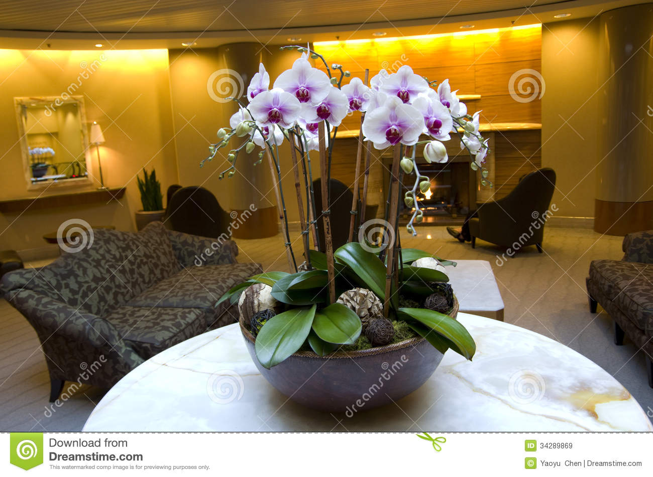 Business Building And Hotel Lobby Stock Image