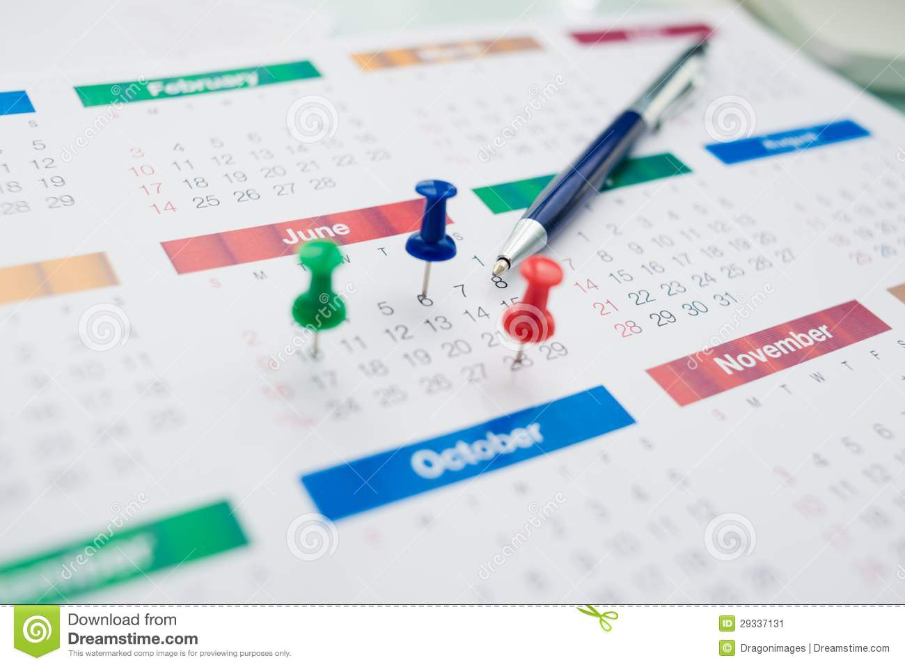 Corporate Calendars : Business calendar stock illustration of