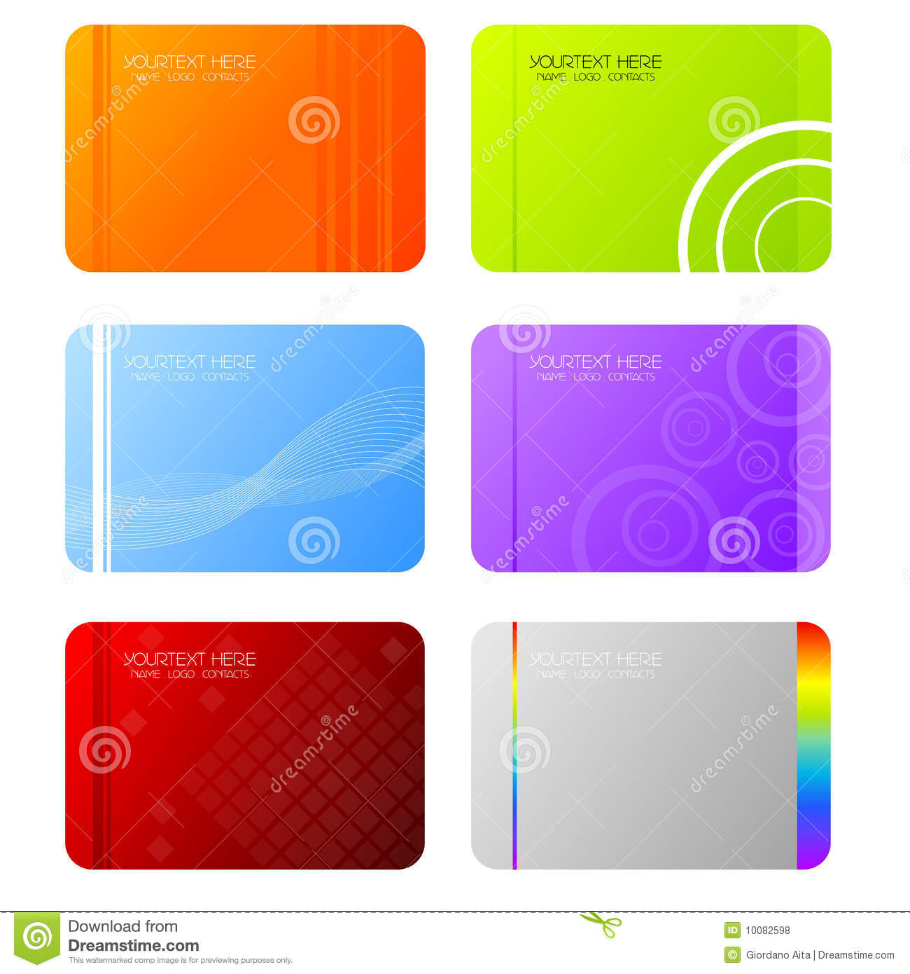 Business card stock vector. Illustration of personal - 10082598