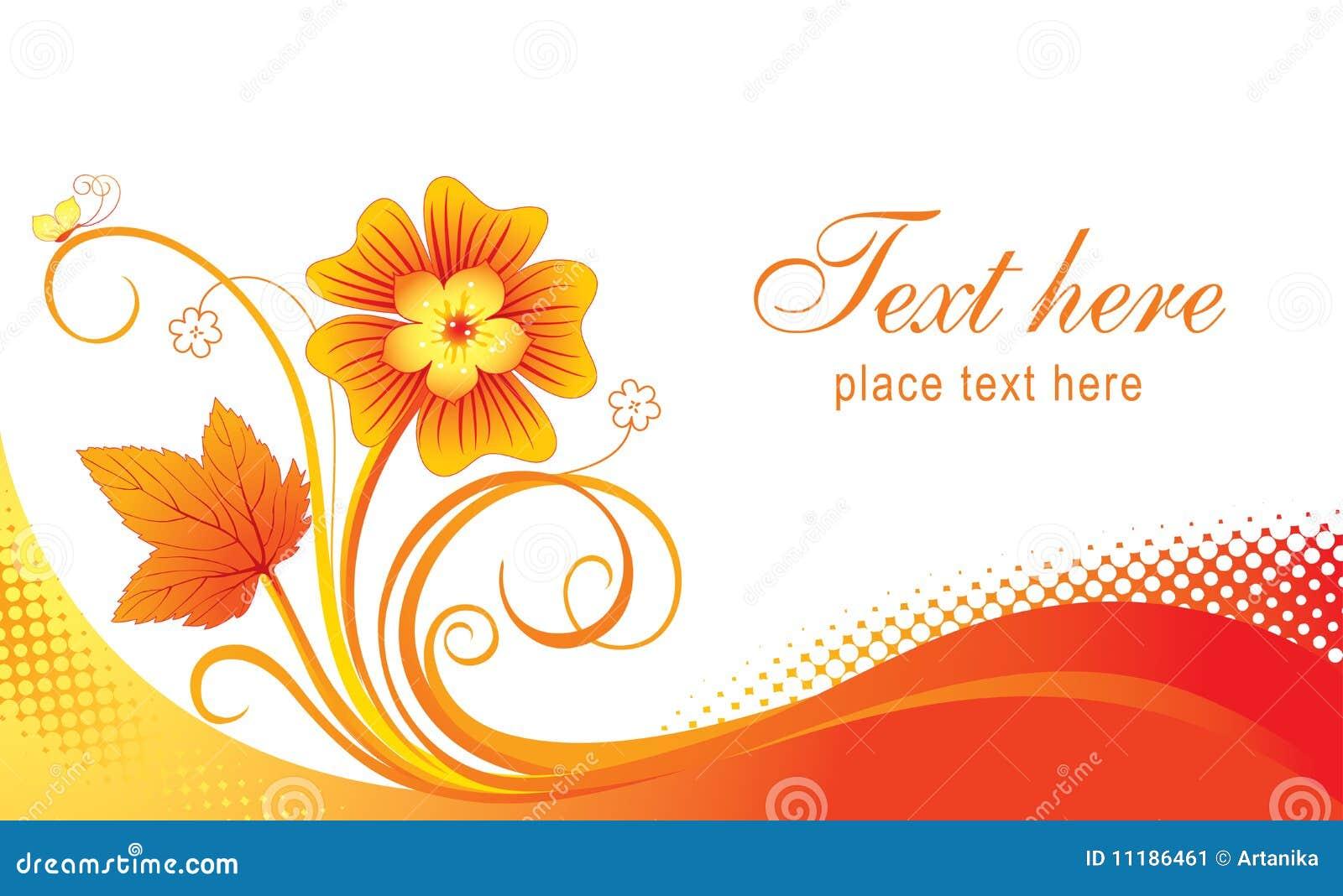 Business card stock vector. Illustration of leaf, pattern - 11186461