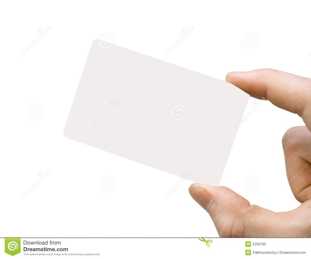 Business card stock photo. Image of hold, presentation - 5292160