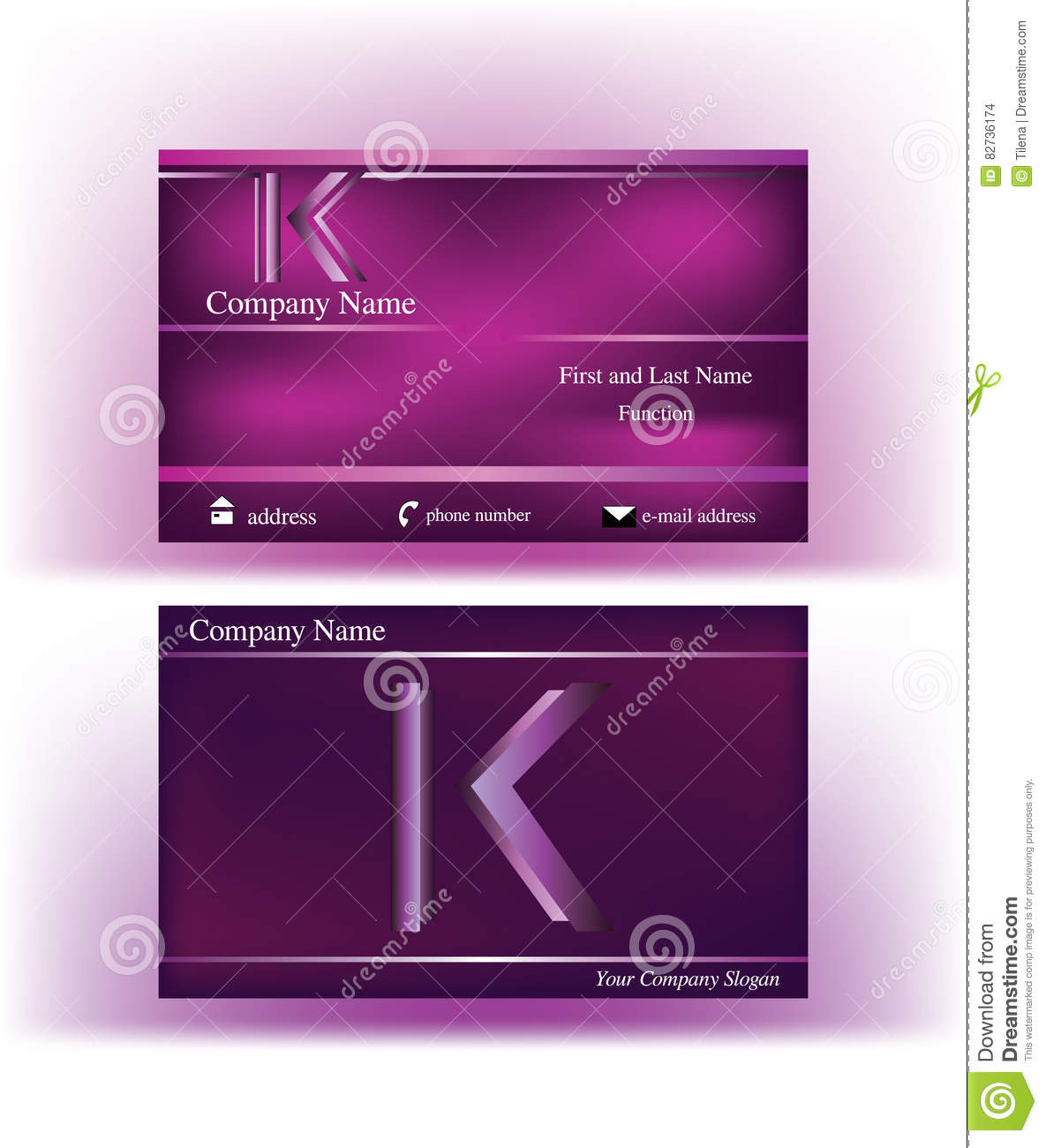 Business card with abstract k letter logo stock vector download business card with abstract k letter logo stock vector illustration of company construction colourmoves