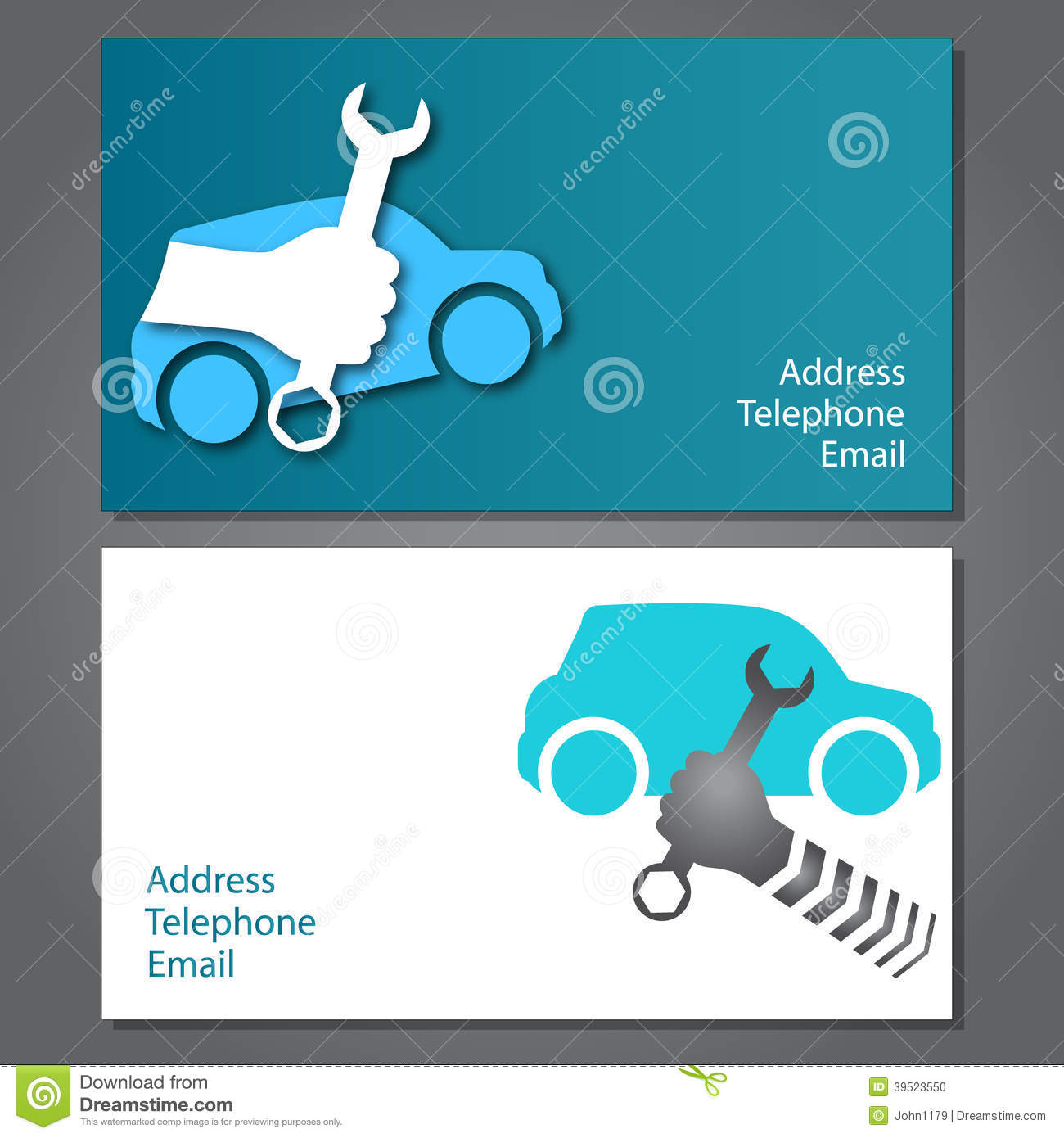 Business card for auto repair stock vector image 39523550 business card for auto repair magicingreecefo Images