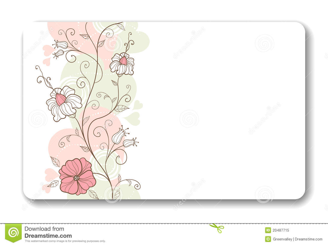 Business card background stock vector. Illustration of leaf - 20487715