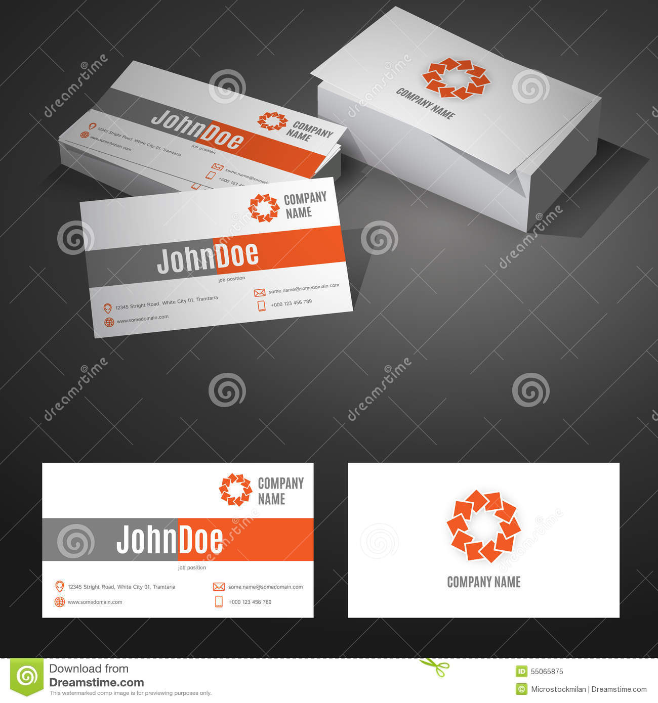 Business Card Background Design Template With Stock Vector