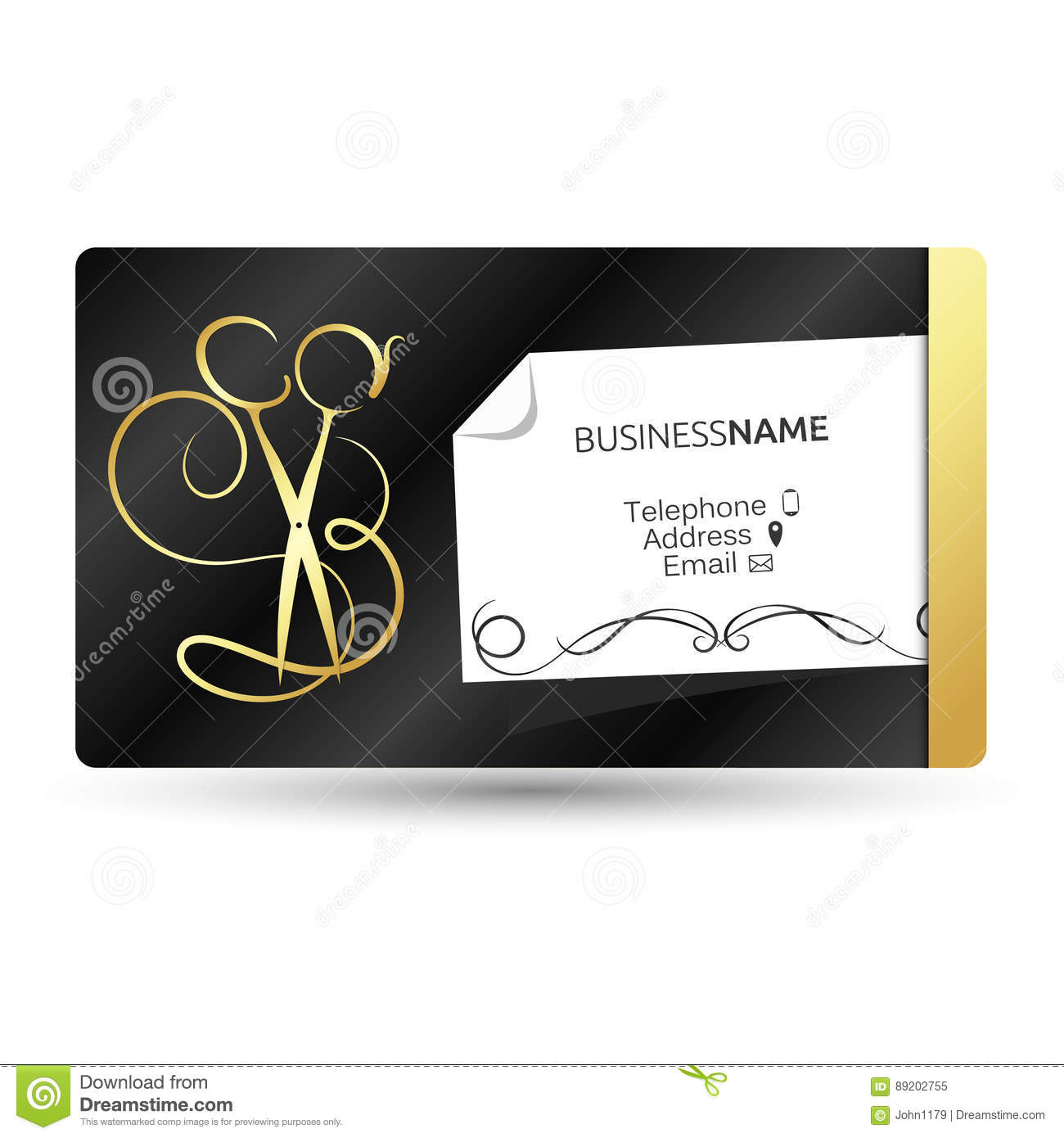 Business card for beauty salon and hairdresser stock vector business card for beauty salon and hairdresser business model colourmoves