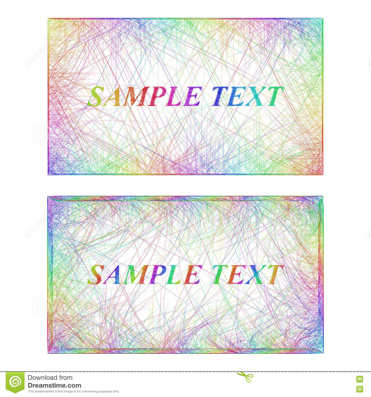 Business card border templates in rainbow colors stock vector business card border templates in rainbow colors flashek Choice Image