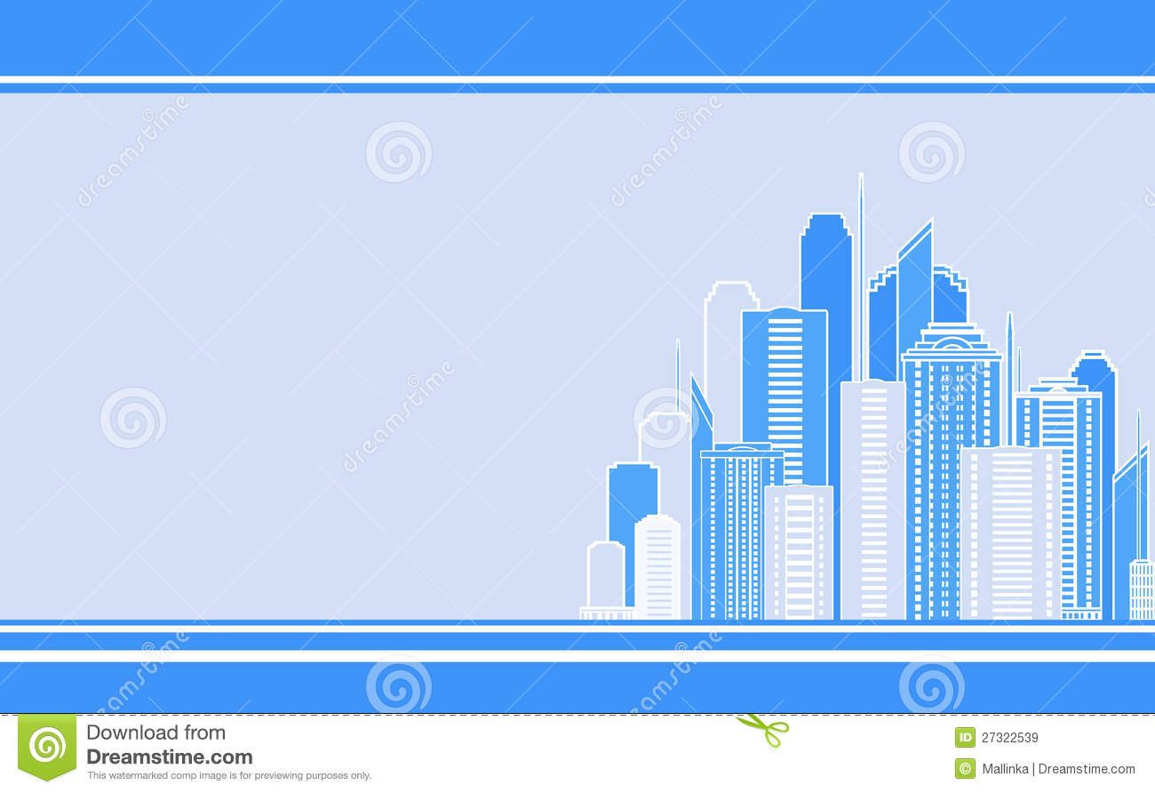Download Business Card With City Landscape Stock Vector