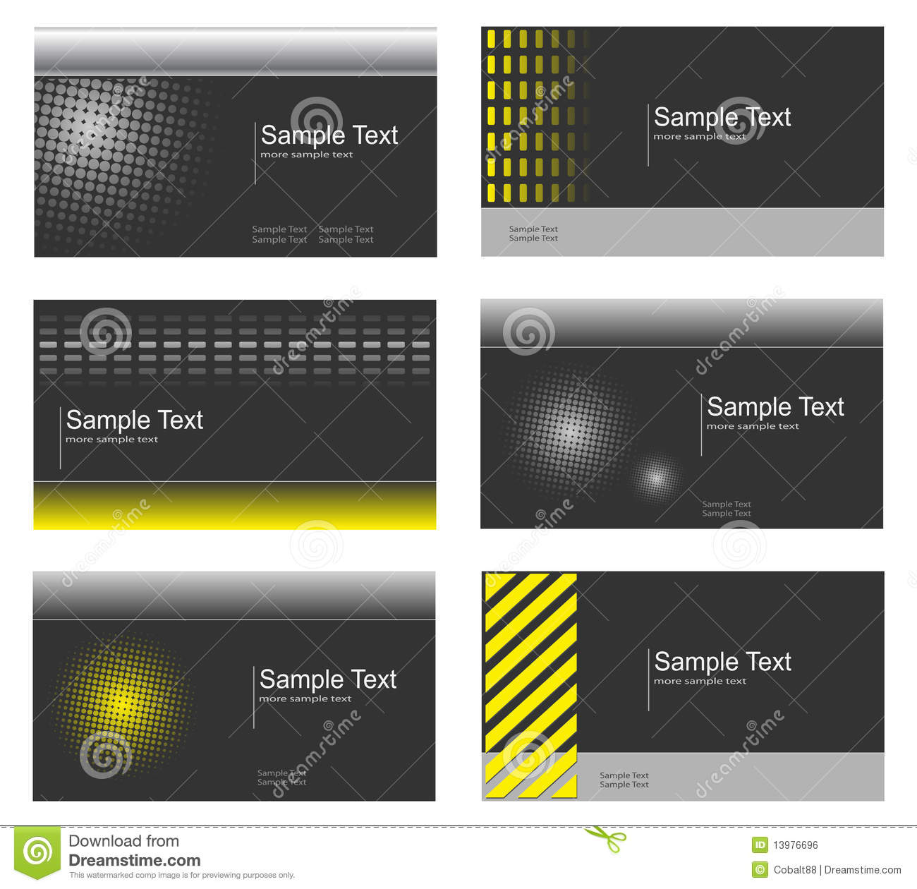 Business card collection vector illustration for Business card collection