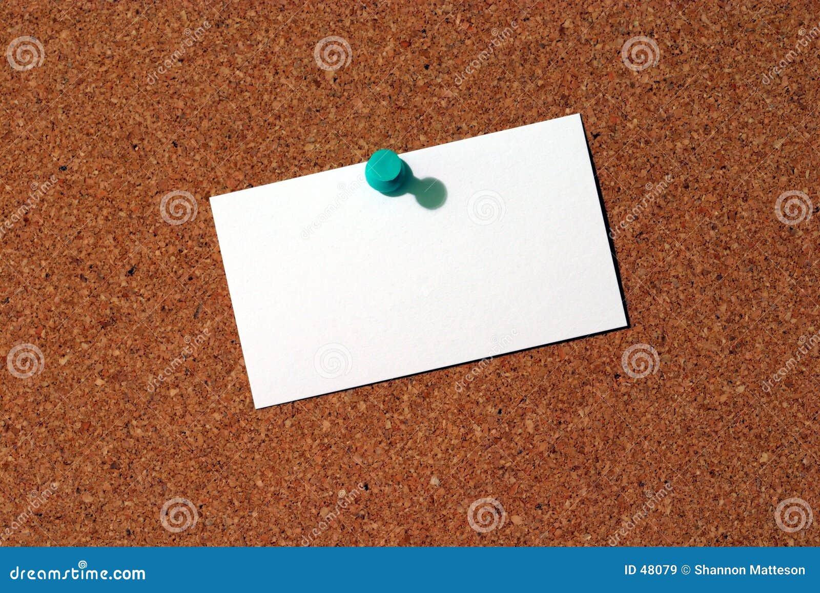 Business Card on Corkboard