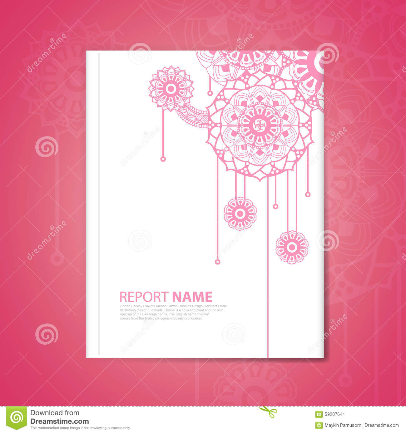 Business Card Stock Vector Illustration Of Layout Henna 59207641