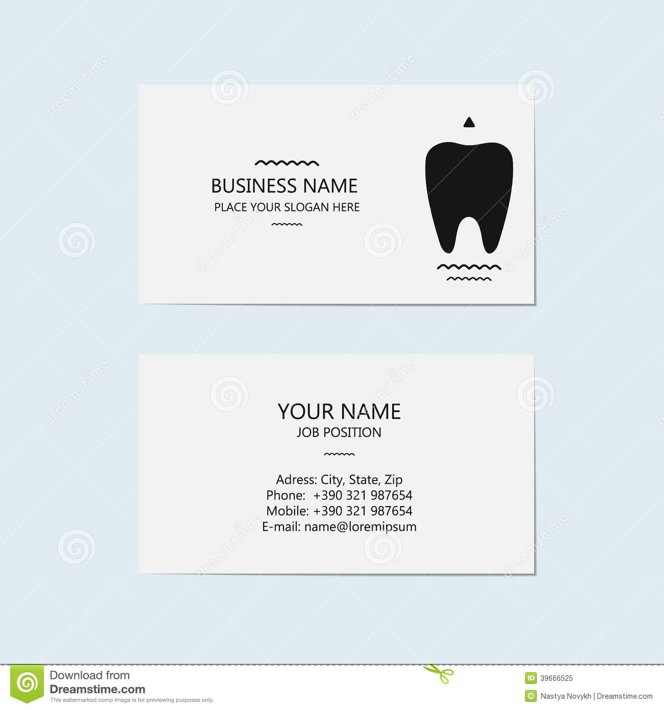 Business card stock options