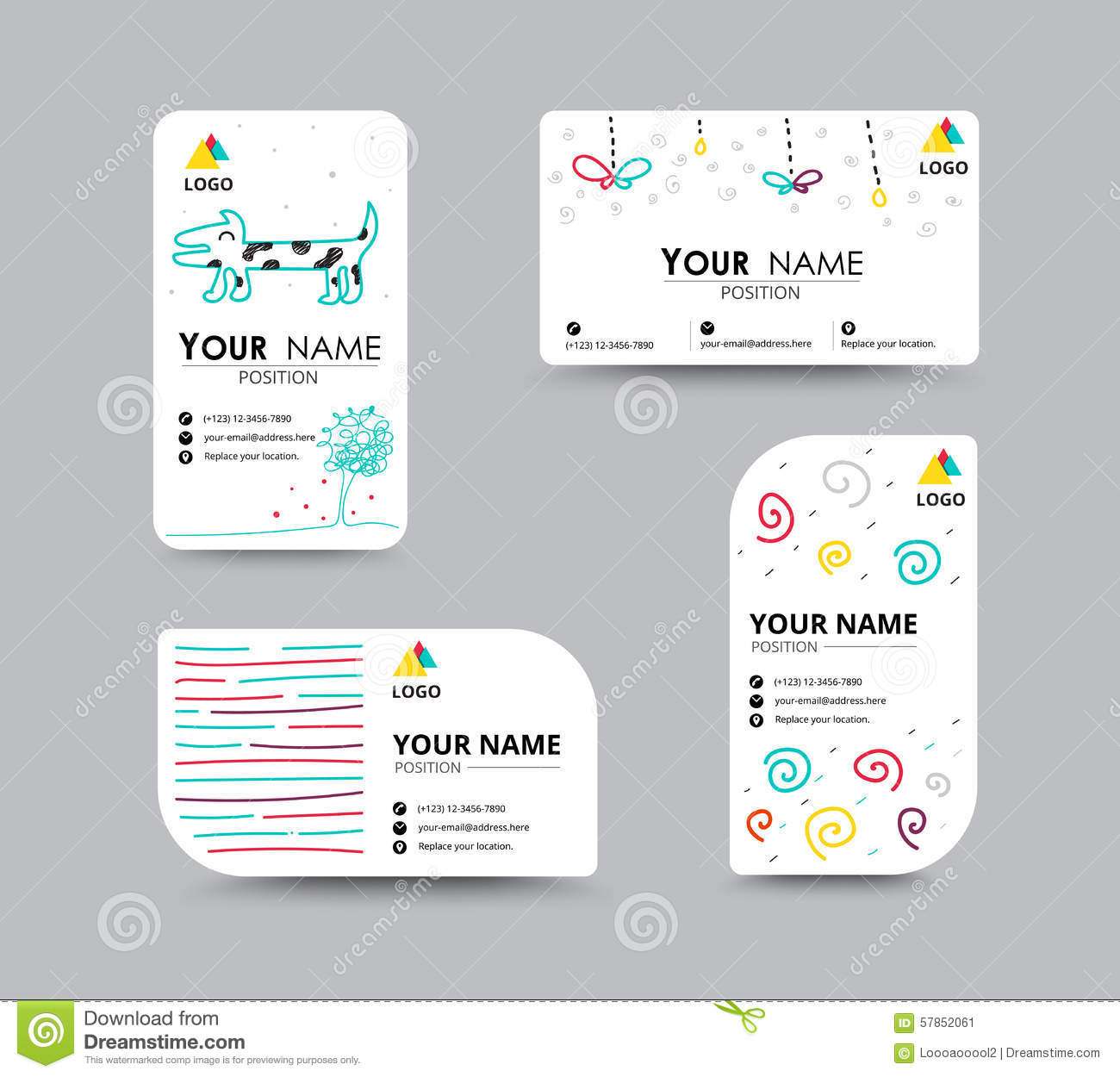 business card with design card template  corporate card