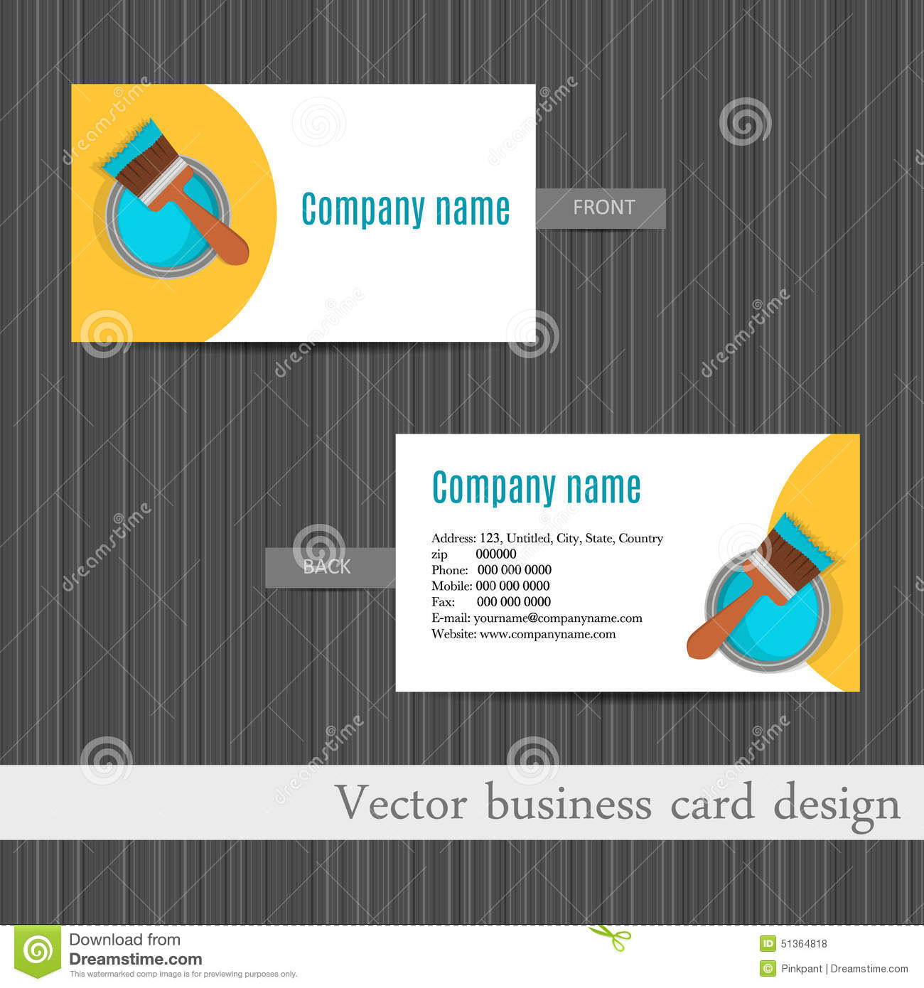 Business Card Design For Home Repair Set Template Stock ...