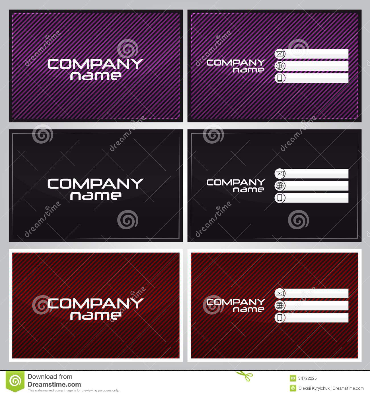 Business card design stock vector. Illustration of stationery - 34722225