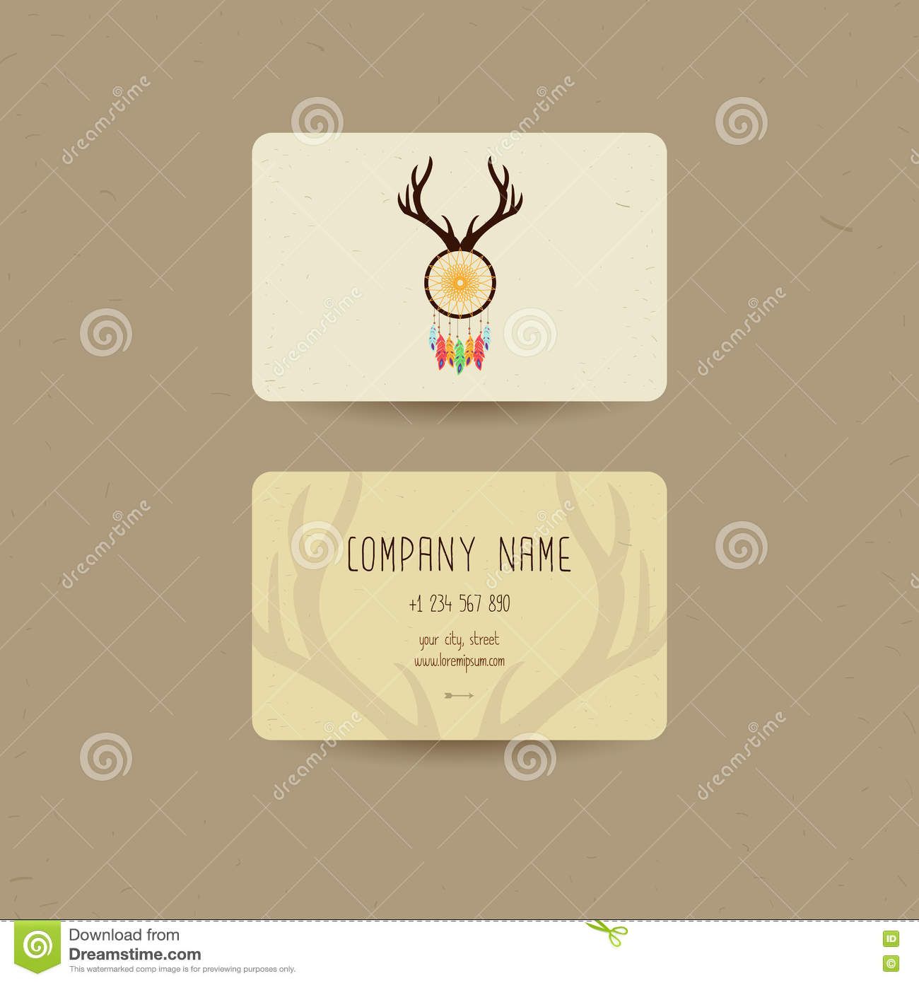 Business Card For Ethnic Style, Can Be Used Us Party Invitation Or ...
