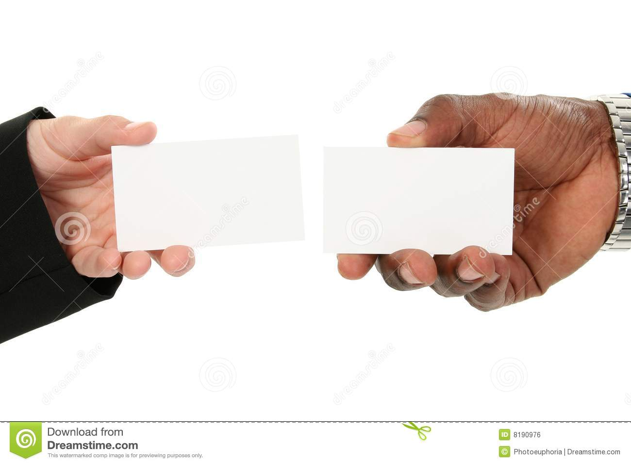Business card exchange stock photo image of card hand 8190976 business card exchange colourmoves