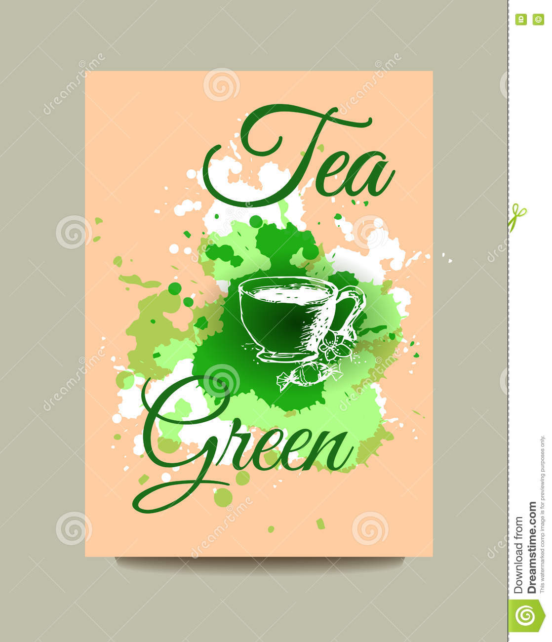 Business Card, Flyer Or Brochure With Green Tea Concept Design ...