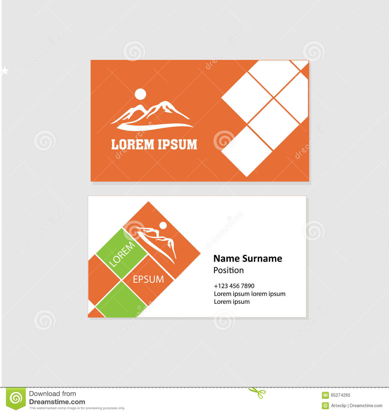 Business Card Front And Back Design Stock Vector - Illustration of ...