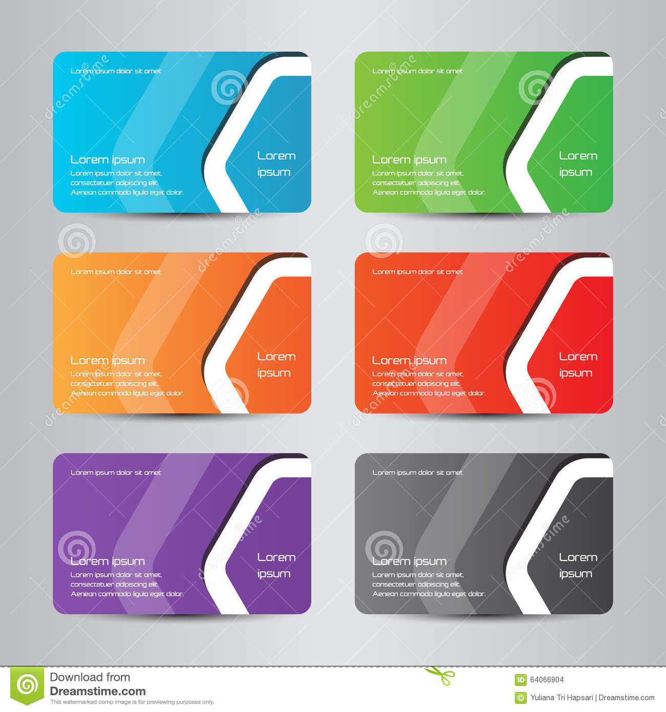 business card full color modern bussines card stock vector  image