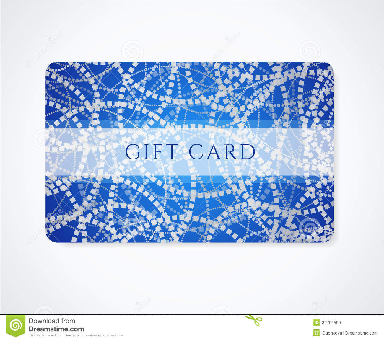 Business Card / Gift Card / Discount Card Pattern Stock Vector ...